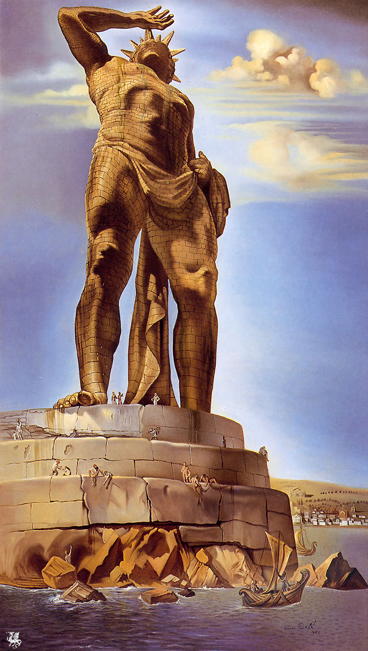 Artist-Salvador Dali Completion Date-1954 Style-Surrealism-The Colossus of Rhodes